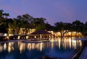 Amaya Lake Pool night view